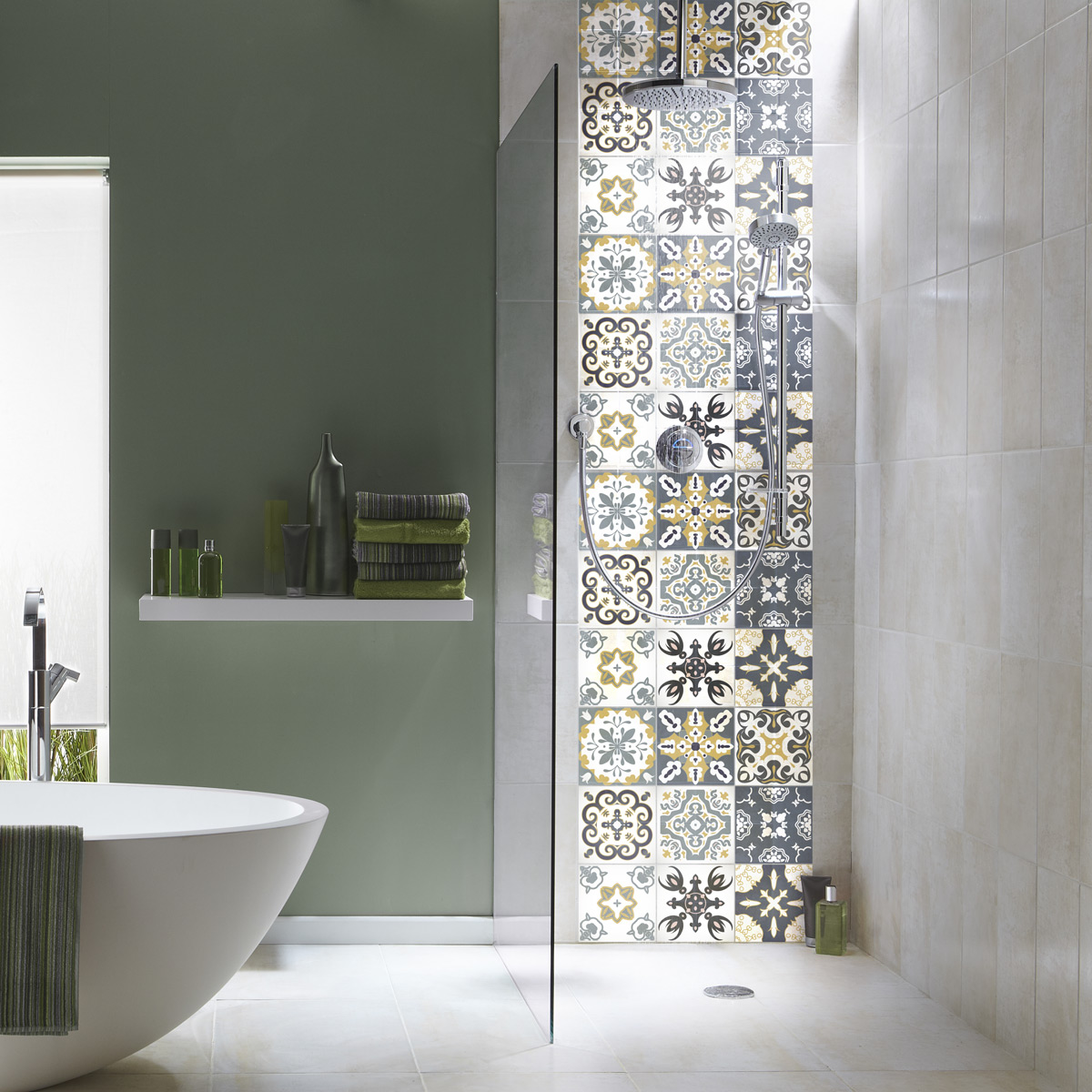 9 stickers carrelages azulejos Marmaris - SALLE DE BAIN ET WC Salle de bain - Ambiance-sticker