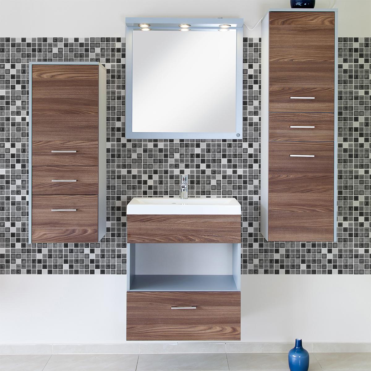9 stickers carrelages azulejos mosa ques nuance de gris art et design artistiques ambiance. Black Bedroom Furniture Sets. Home Design Ideas