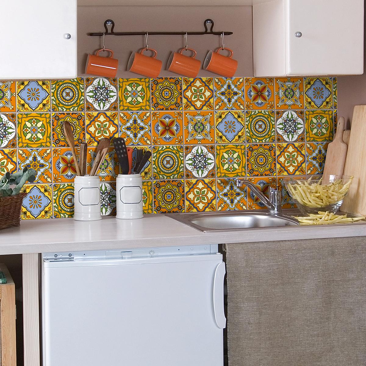 9 stickers carrelages azulejos ornements mosa ques anciens art et design artistiques. Black Bedroom Furniture Sets. Home Design Ideas