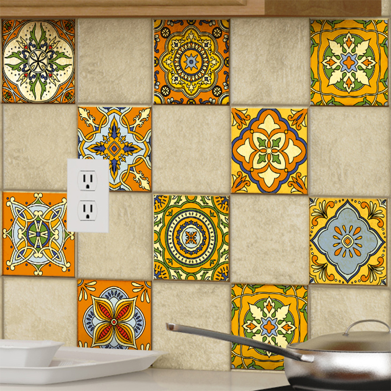 9 stickers carrelages azulejos ornements mosa ques anciens for Carrelages muraux anciens