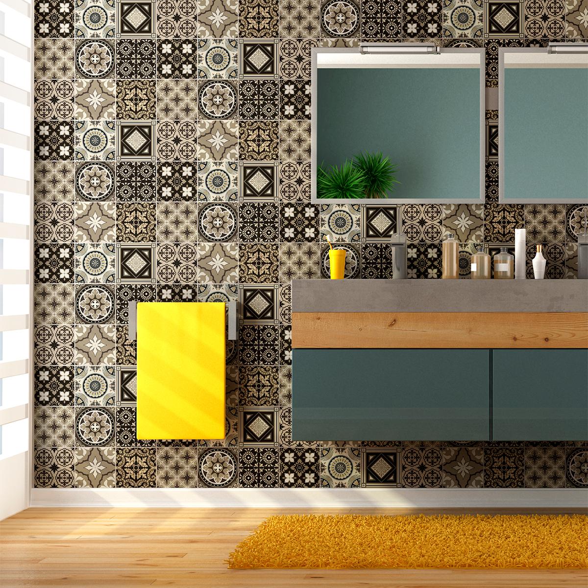 9 stickers carrelages azulejos pompei cuisine carrelages ambiance sticker. Black Bedroom Furniture Sets. Home Design Ideas