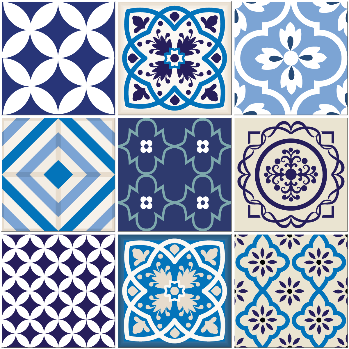 9 stickers carrelages azulejos sandro cuisine carrelages ambiance sticker. Black Bedroom Furniture Sets. Home Design Ideas