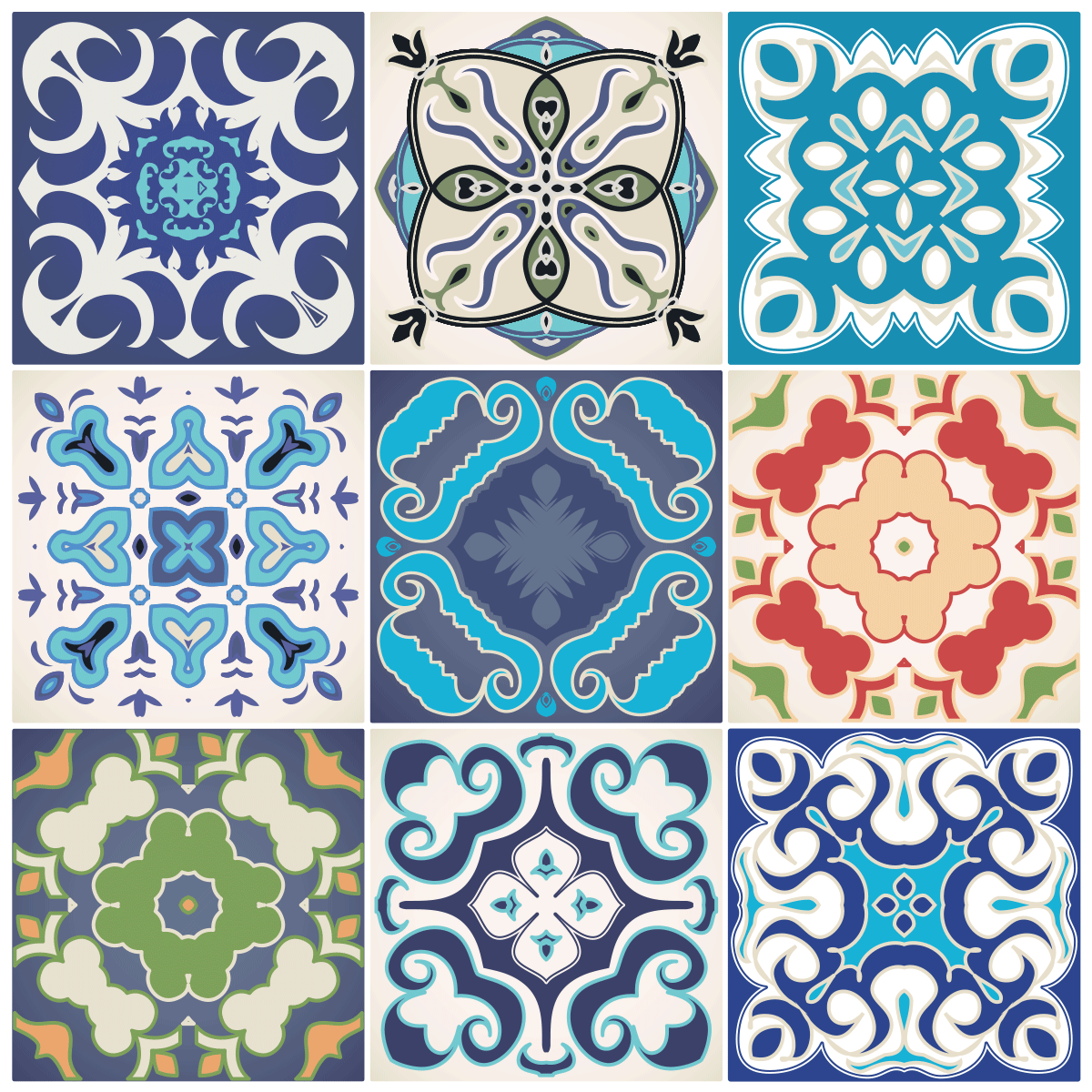 9 stickers carrelages azulejos semba salle de bain et wc for Carrelage mural azulejos