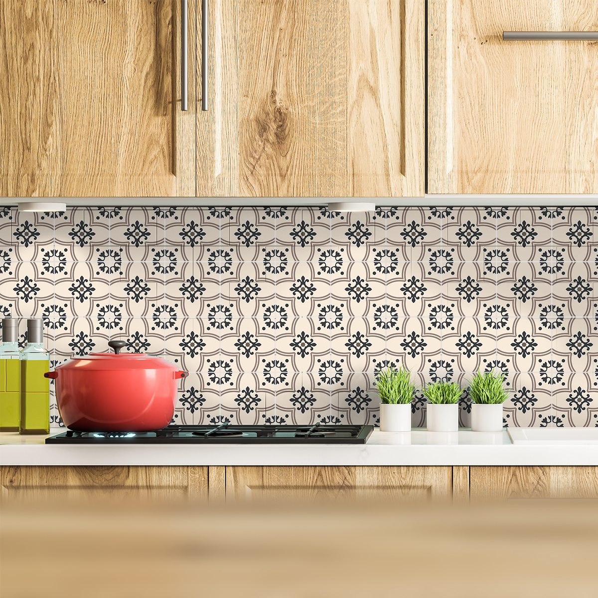 9 stickers carrelages azulejos suzanna cuisine - Stickers cuisine carrelage ...