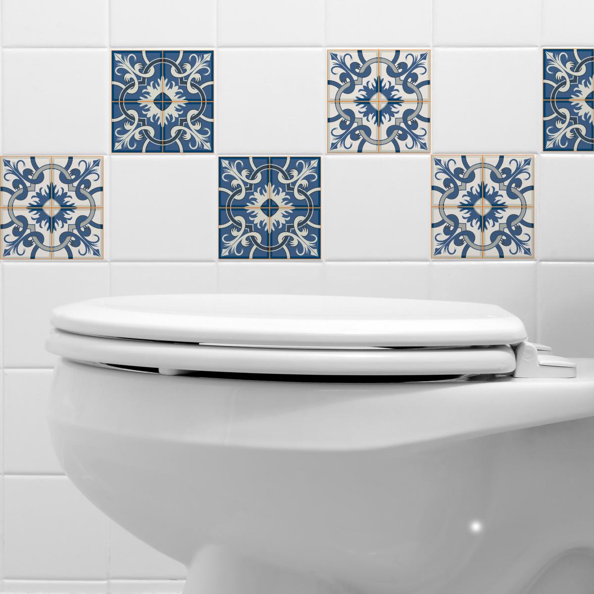 9 stickers carrelages azulejos tullia salle de bain et. Black Bedroom Furniture Sets. Home Design Ideas