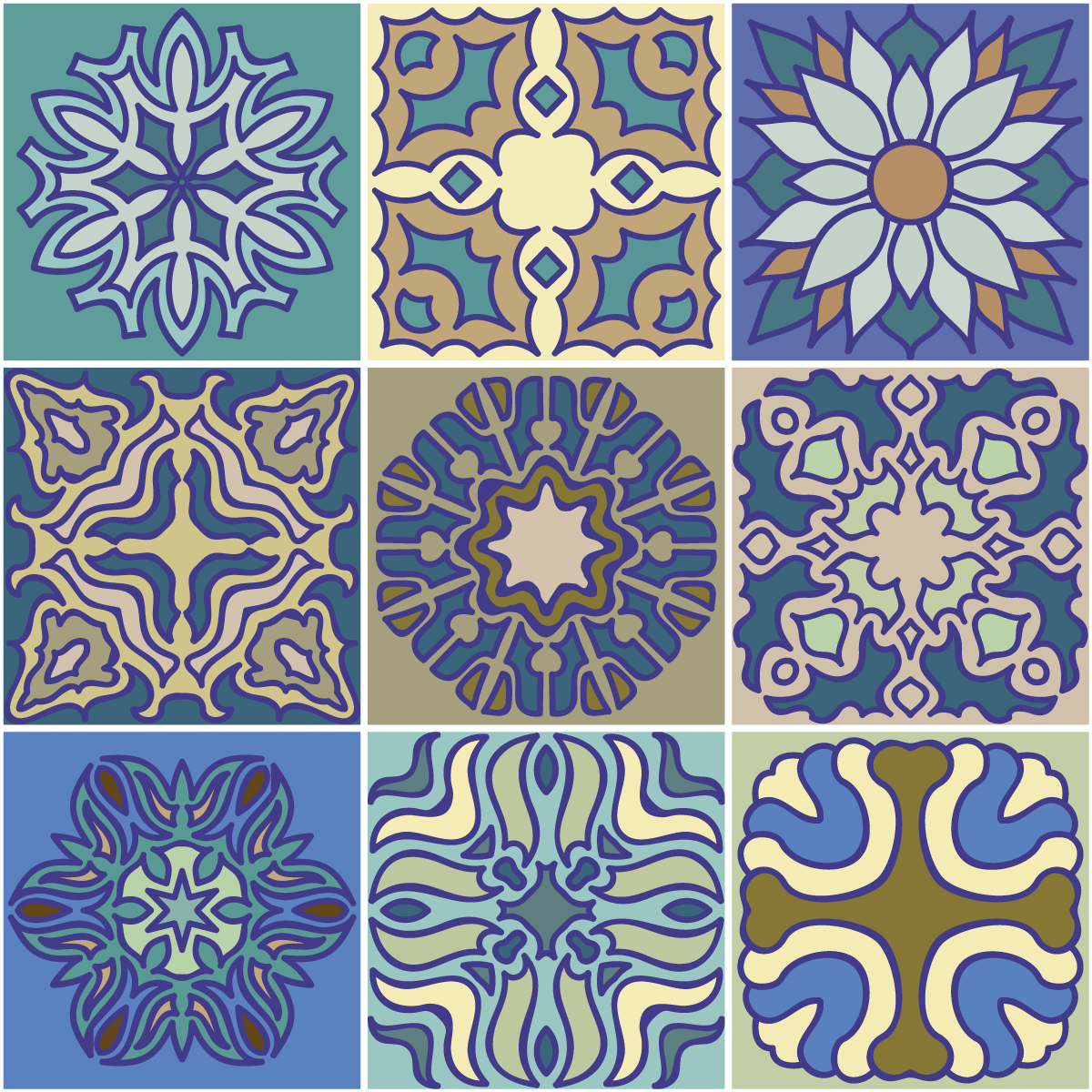 9 stickers carrelages azulejos v los cuisine carrelages. Black Bedroom Furniture Sets. Home Design Ideas