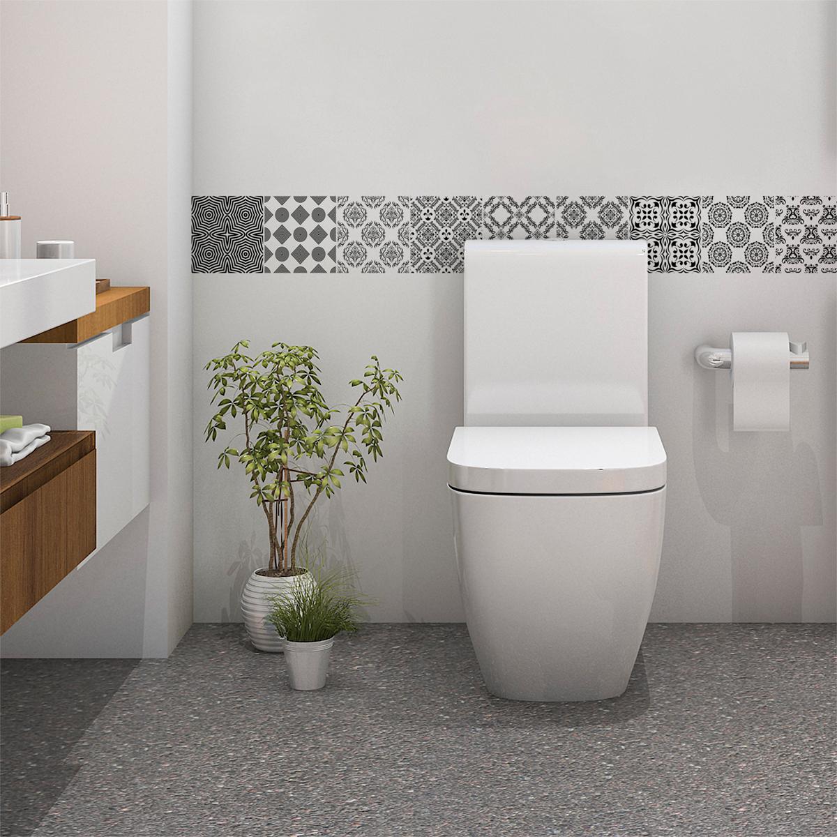 9 stickers carrelages scandinave kaltina salle de bain et wc salle de bain ambiance sticker. Black Bedroom Furniture Sets. Home Design Ideas