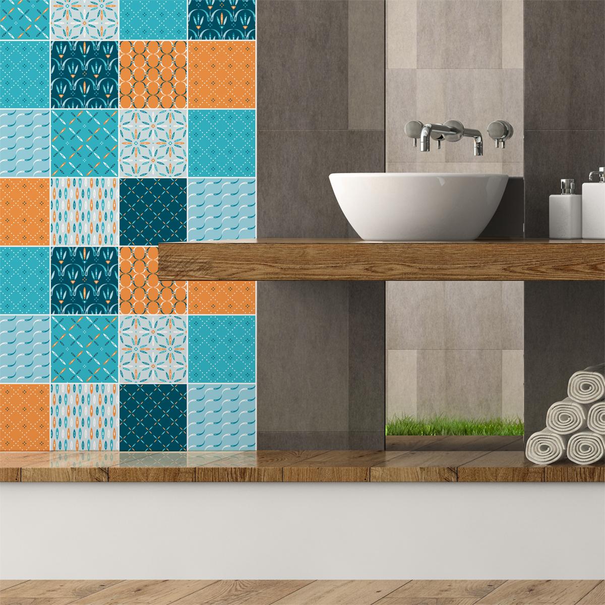 9 stickers carrelages scandinave minsk salle de bain et wc salle de bain ambiance sticker. Black Bedroom Furniture Sets. Home Design Ideas