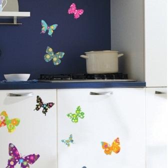 Sticker exotische vlinders 2 ambiance sticker amb 58081 versier uw huis met muurstickers en - Deco kamer stijl engels ...