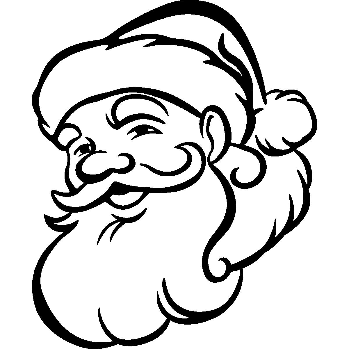 santa head silhouette Snow Bunny Clip Art Let It Snow Clip Art