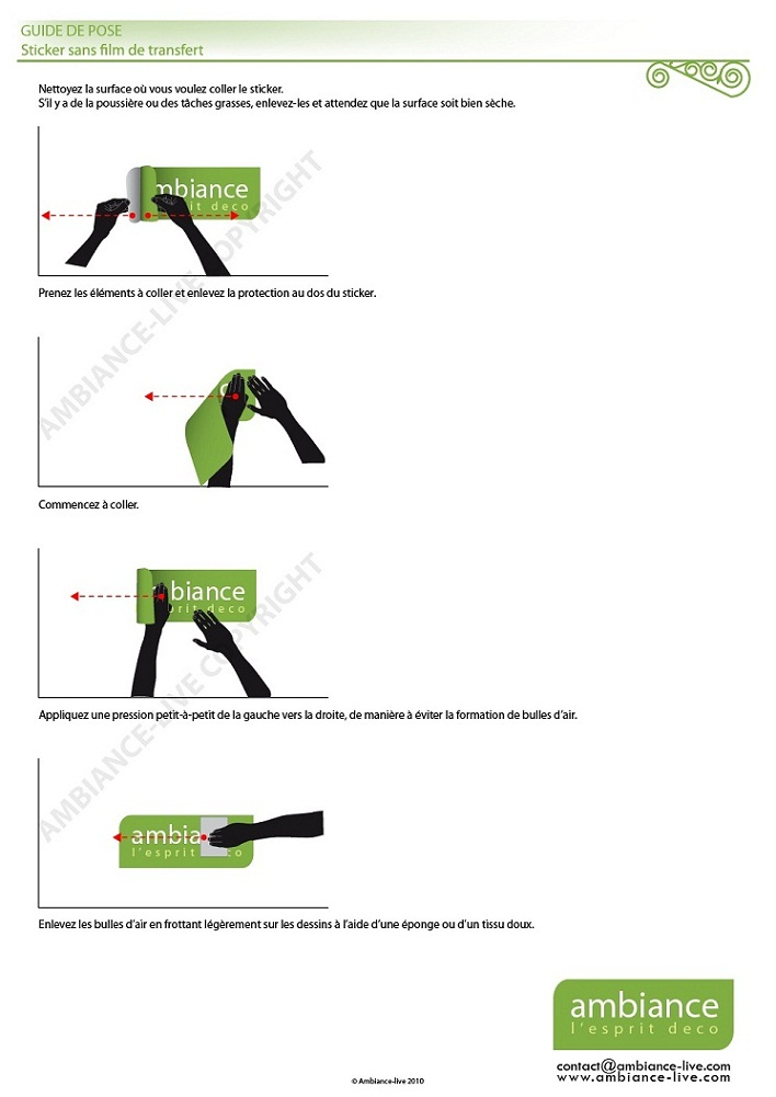 Notice de pose stickers muraux - Pose stickers muraux ...