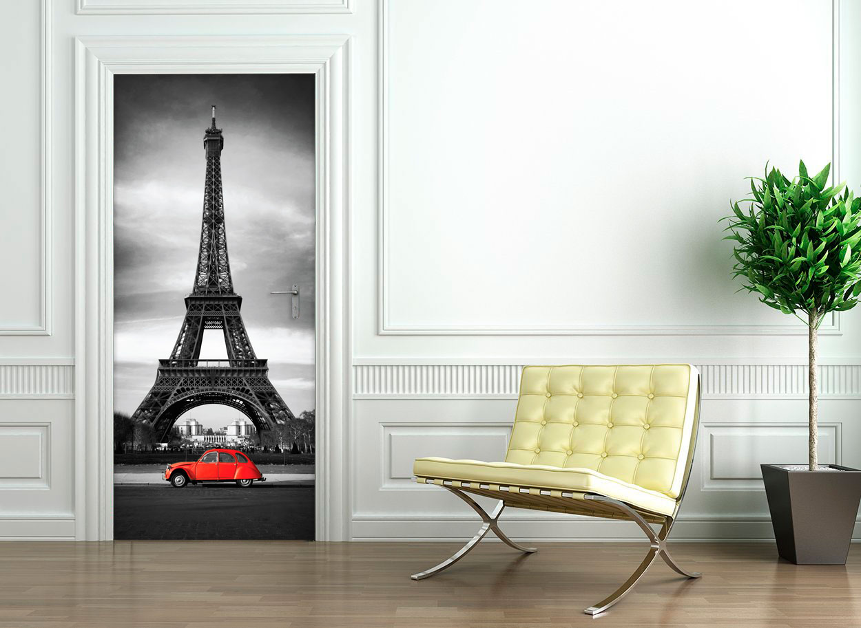 Sticker porte 204 x 83 cm tour eiffel stickers villes for Stickers tour eiffel chambre