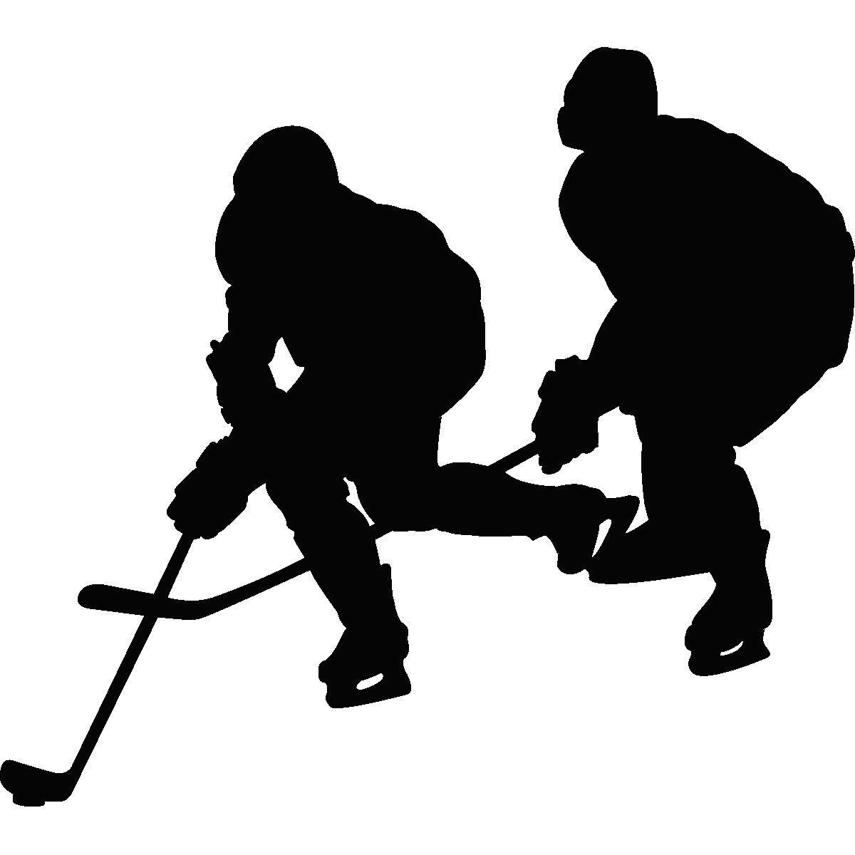 Muursticker ijshockey spelers muurstickers muziek cinema silhouetten ambiance sticker - Deco kamer stijl engels ...