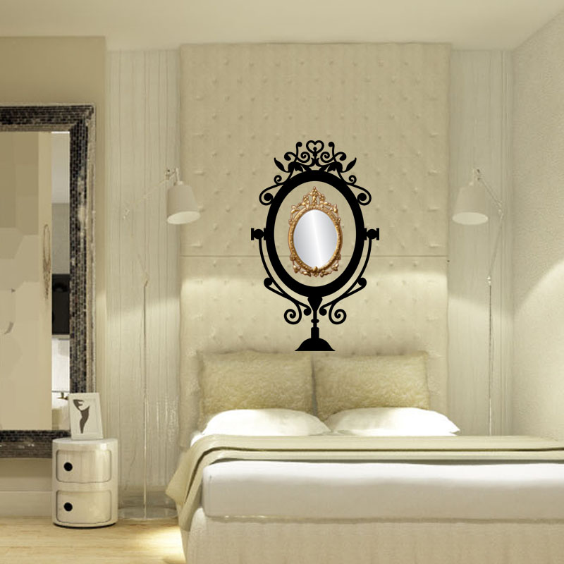 sticker cadre baroque pour miroir stickers art et design baroque ambiance sticker. Black Bedroom Furniture Sets. Home Design Ideas