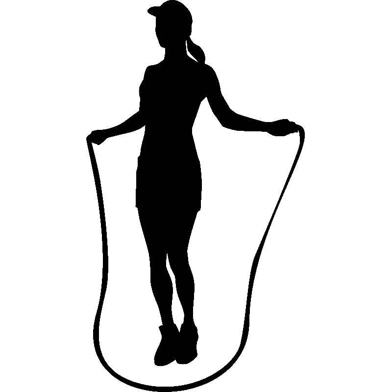 sticker femme avec une corde sauter stickers sports et football autres sports ambiance sticker. Black Bedroom Furniture Sets. Home Design Ideas