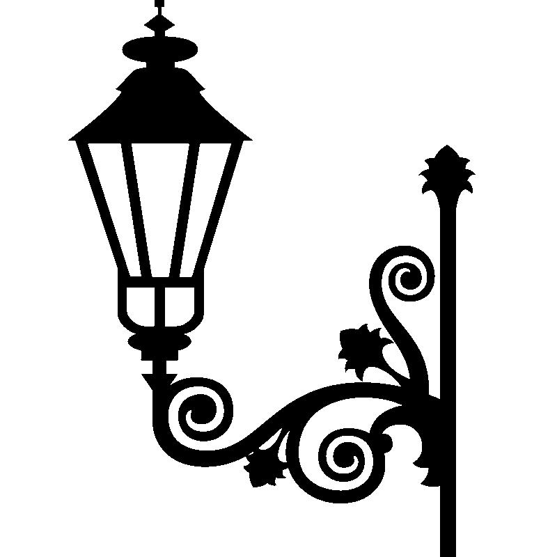 Muurstickers barokke muursticker lamp ontwerp ambiance - Deco kamer stijl engels ...