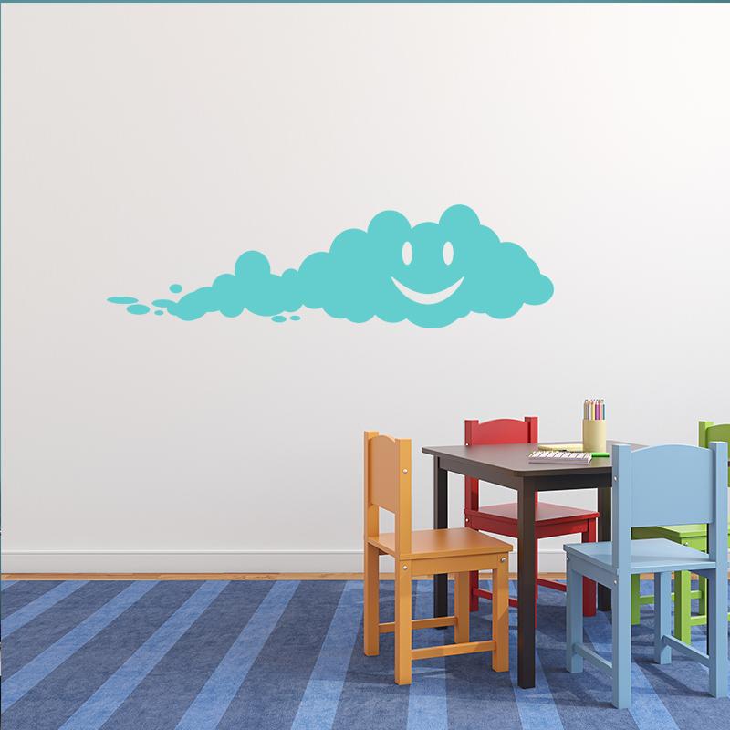 Sticker nuage heureux stickers stickers enfants smileys - Stickers muraux nuages blancs ...