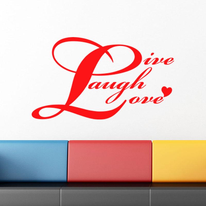 Sticker live laugh love ii stickers chambre amour for Stickers chambre love