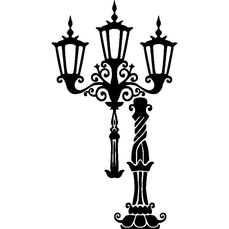 Muurstickers hanger muursticker lantaarn voor haken ambiance - Deco kamer stijl engels ...