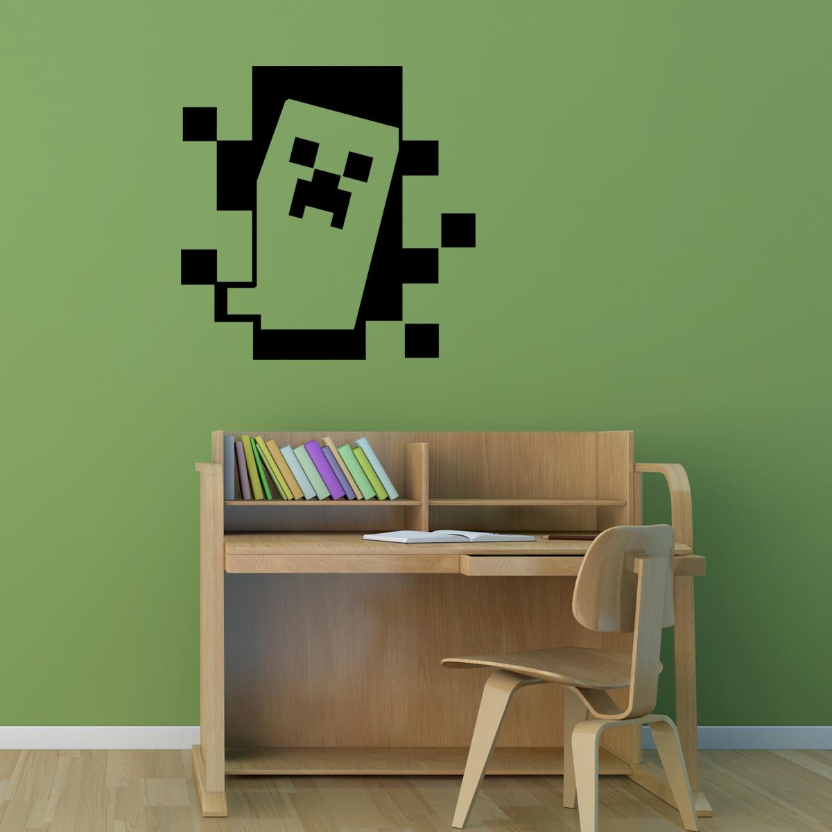 Stickers muraux pour les enfants   sticker minecraft, creeper ...