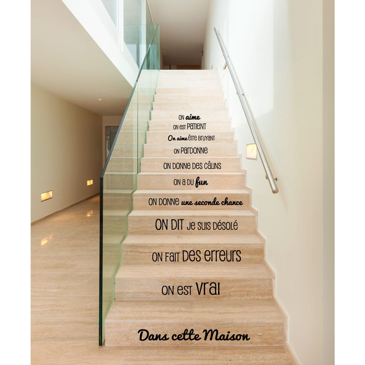 sticker dans cette maison design stickers citations. Black Bedroom Furniture Sets. Home Design Ideas