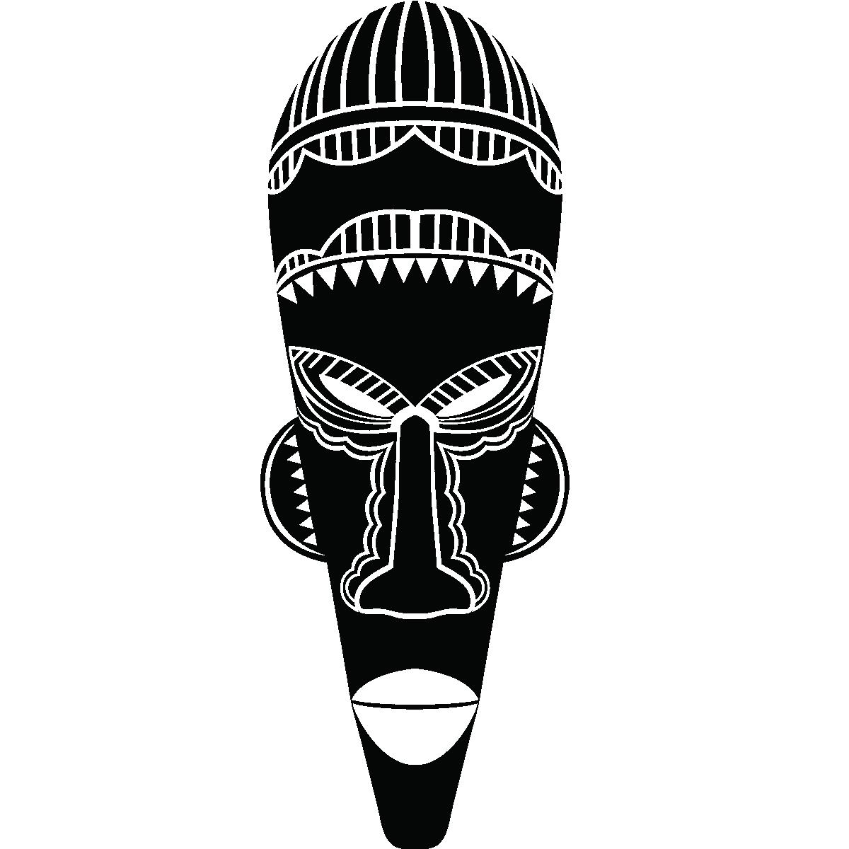 Stickers muraux pays et villes sticker masque africain - Dessin de masque africain ...