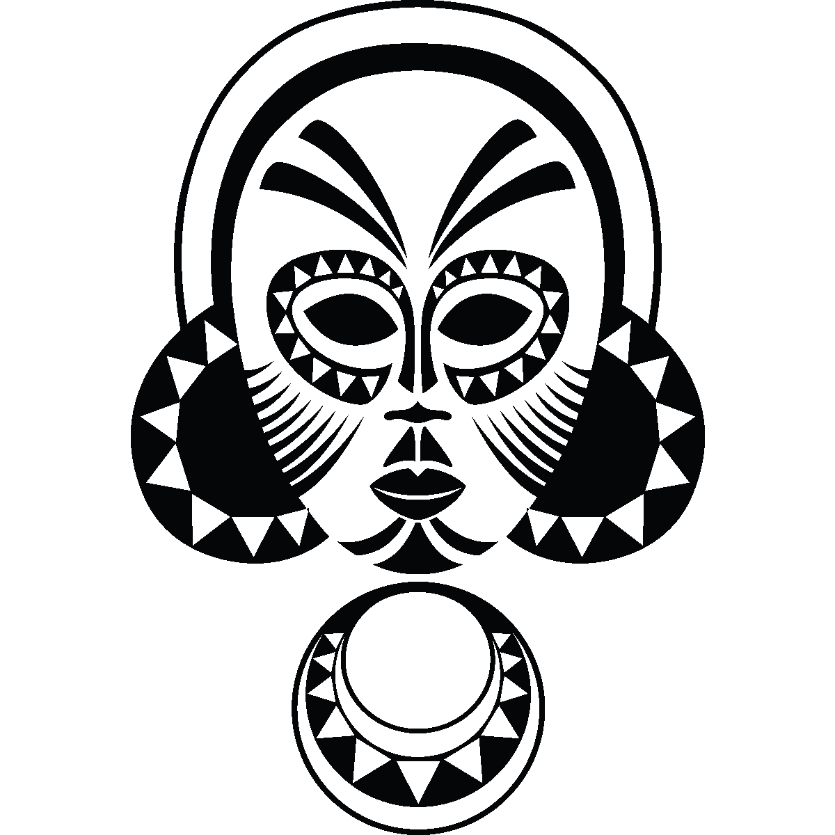 indian tribal masks coloring pages - photo#24