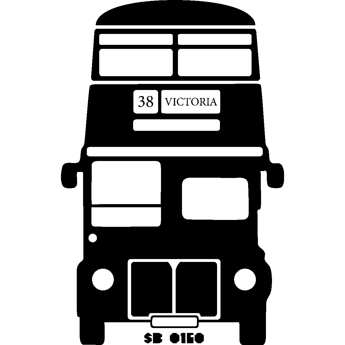 Stickers muraux londres sticker bus anglais ambiance - Dessin bus anglais ...