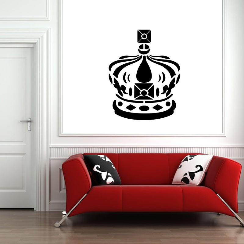 stickers muraux londres sticker couronne royale ambiance. Black Bedroom Furniture Sets. Home Design Ideas