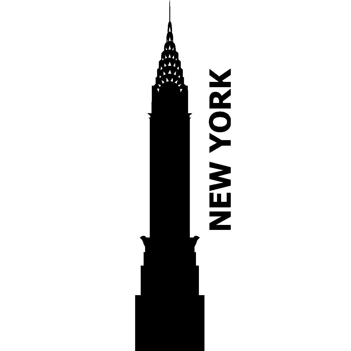 stickers muraux new york sticker gratte ciel de new york ambiance. Black Bedroom Furniture Sets. Home Design Ideas