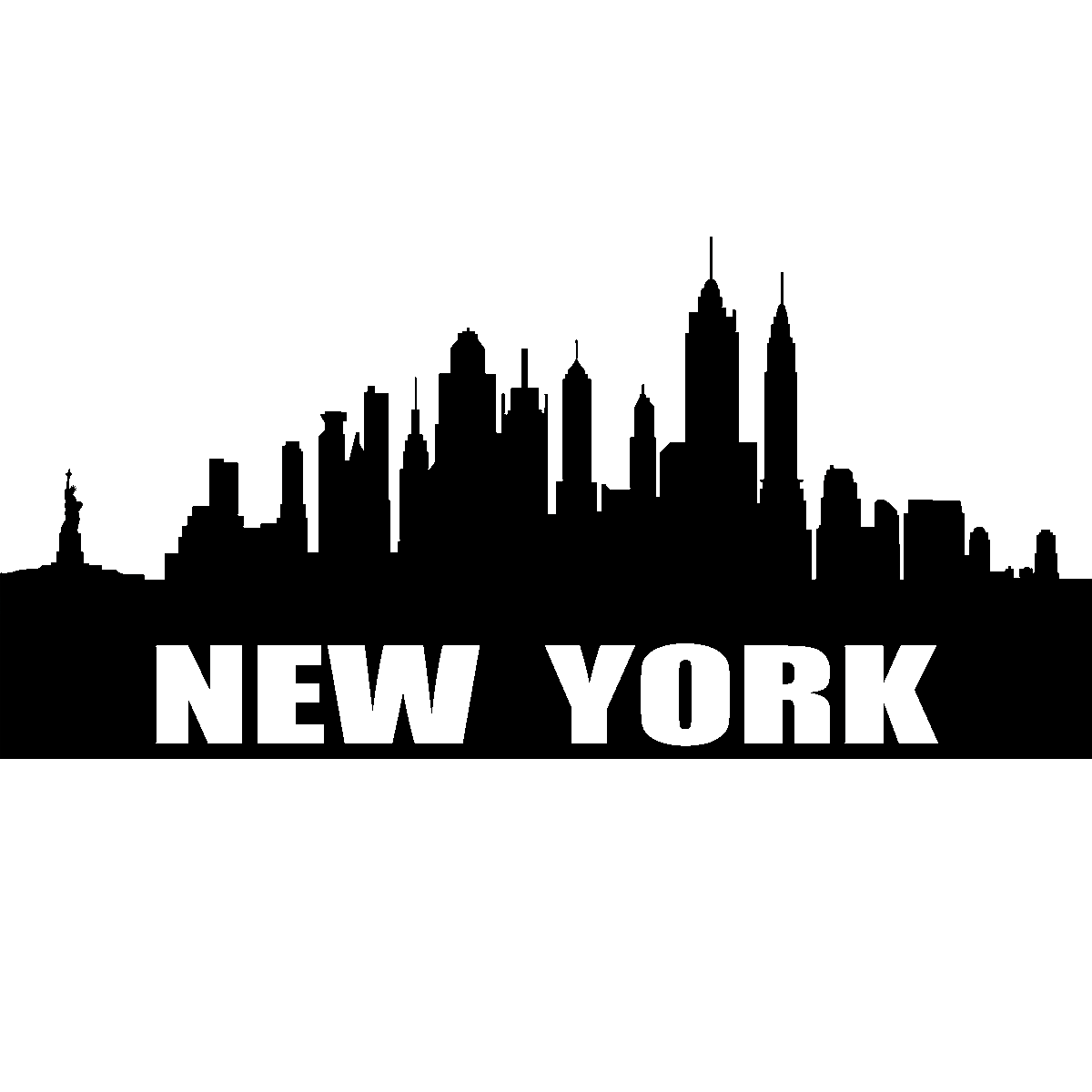 stickers muraux new york sticker ville de new york ambiance. Black Bedroom Furniture Sets. Home Design Ideas