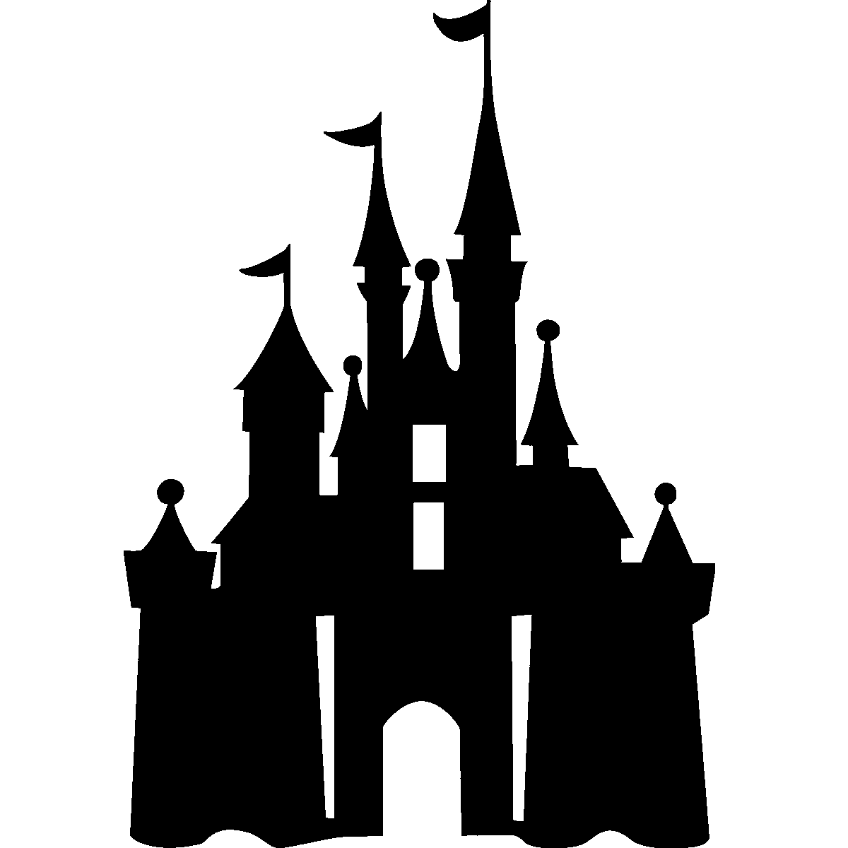 Disney Castle Silhouette Png Www Imgkid Com The Image