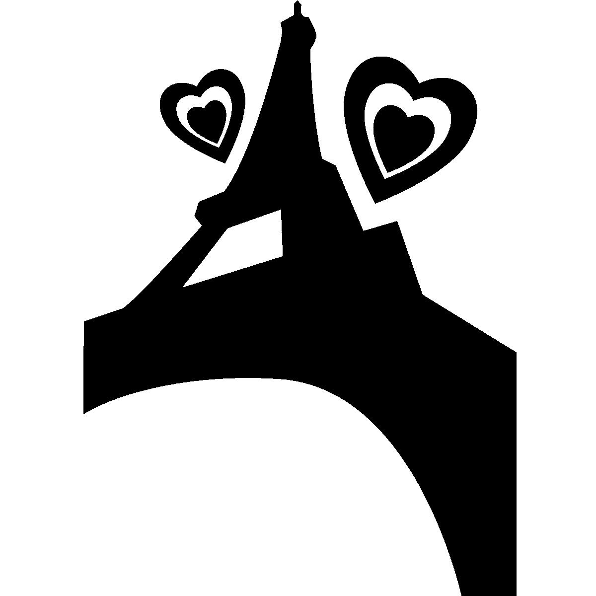 Parijs muurstickers muursticker liefde in parijs ambiance - Deco kamer stijl engels ...