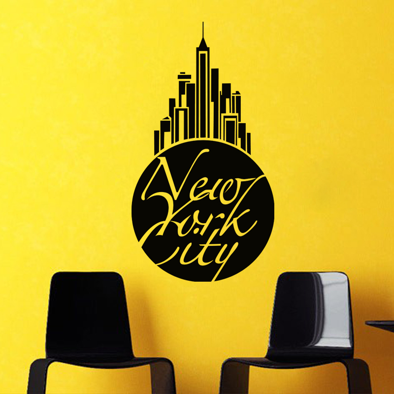 stickers muraux new york sticker nameoftheproduct ambiance. Black Bedroom Furniture Sets. Home Design Ideas