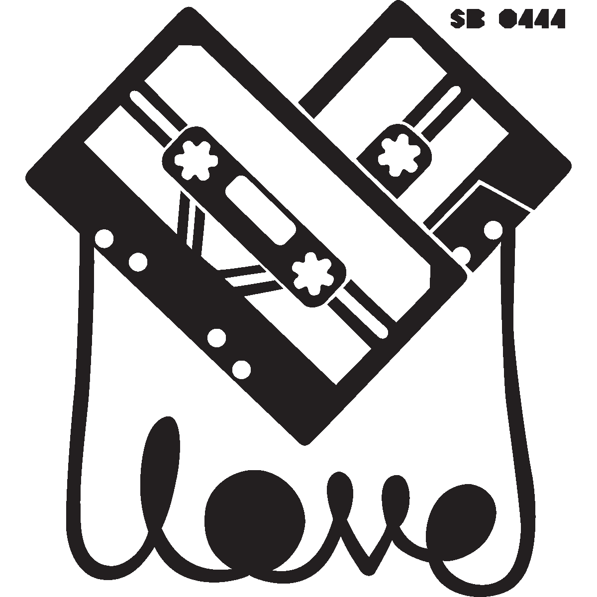 Muurstickers muziek muursticker cassettes love ambiance - Deco kamer stijl engels ...