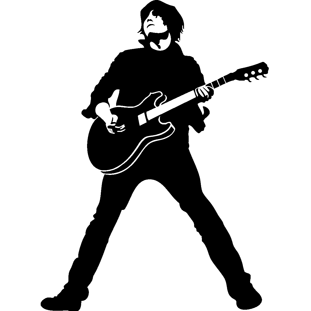 Guitarist Silhouette Decal Silhouette Guitarist