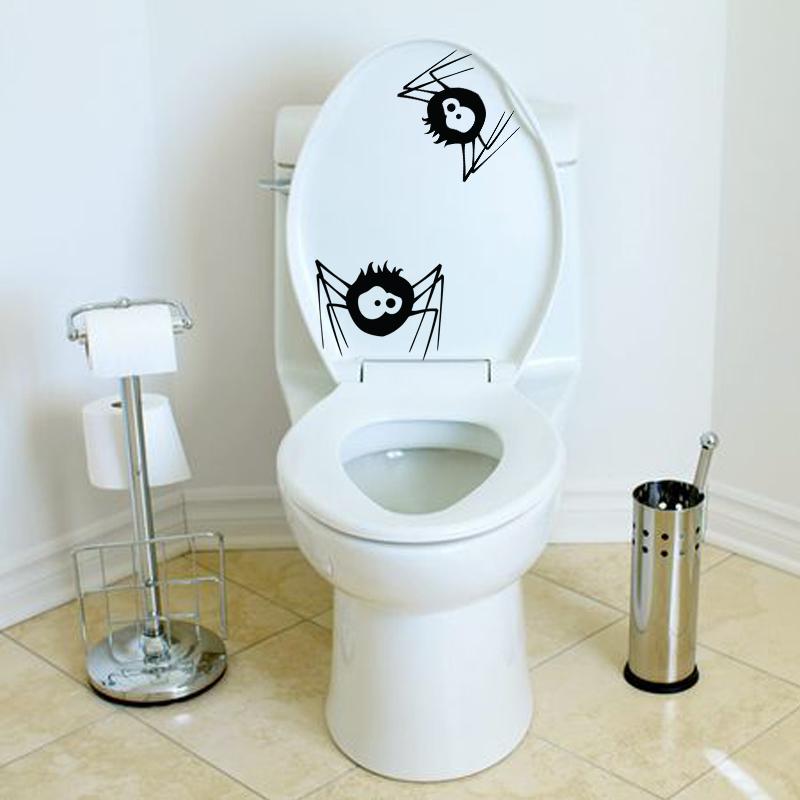 stickers muraux pour wc sticker mural araign 233 e triste ambiance sticker