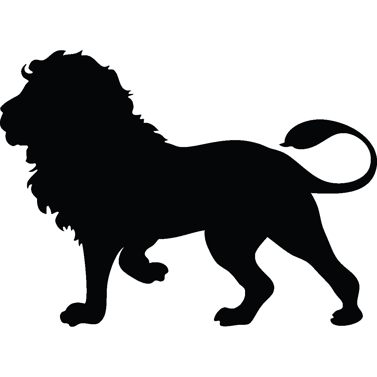 Stickers Muraux Animaux Sticker Silhouette Lion