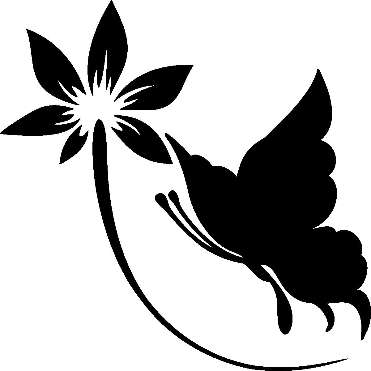 Muurstickers dieren muursticker bloem en vlinder ambiance - Deco kamer stijl engels ...