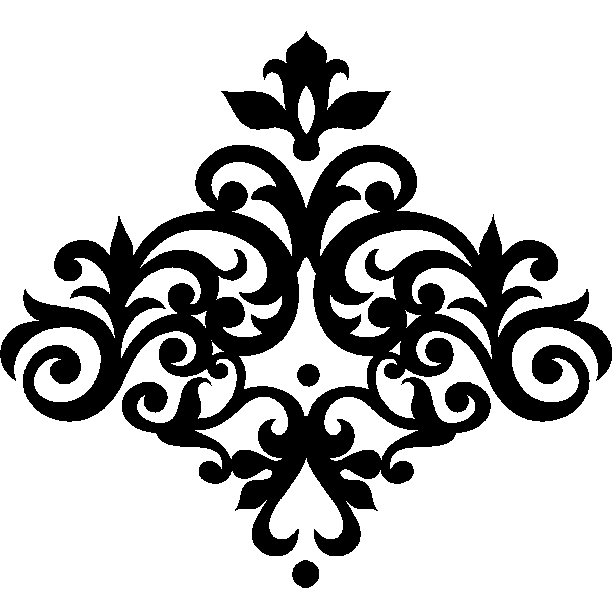 Muurstickers design muursticker barok bloem ambiance - Deco kamer stijl engels ...