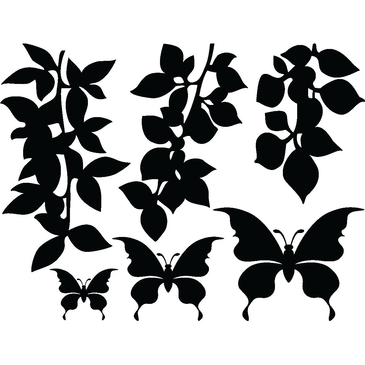 Muurstickers dieren muursticker vlinders en takken ambiance - Deco kamer stijl engels ...