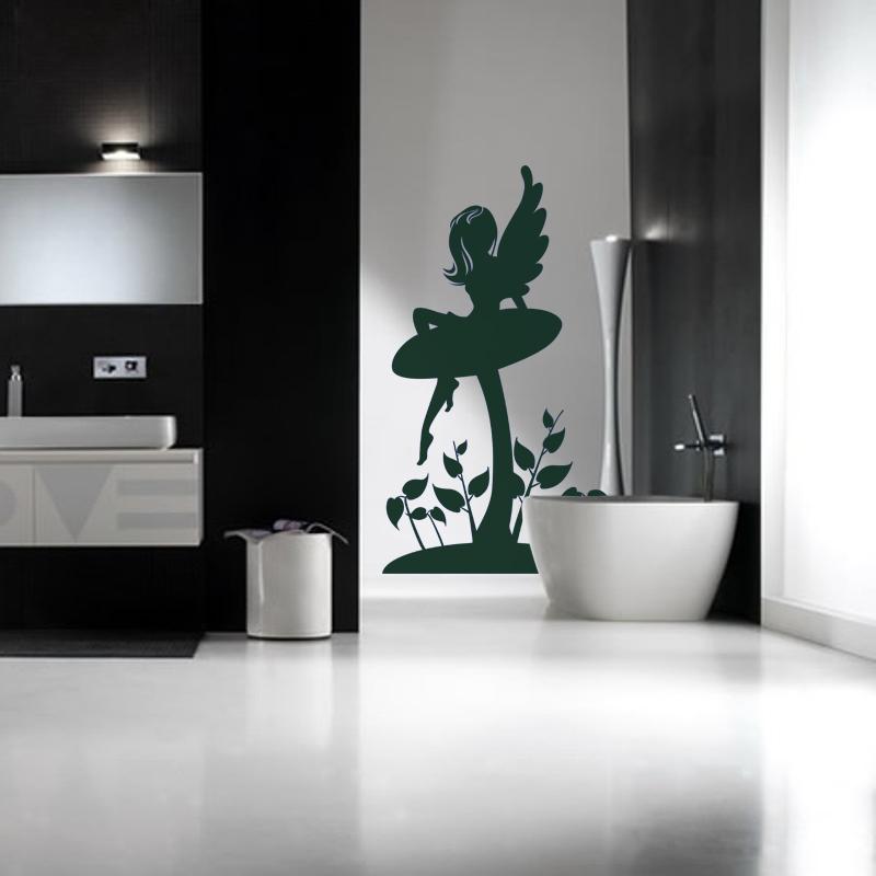 stickers muraux pour salle de bain sticker mural f e sur une champignon ambiance. Black Bedroom Furniture Sets. Home Design Ideas