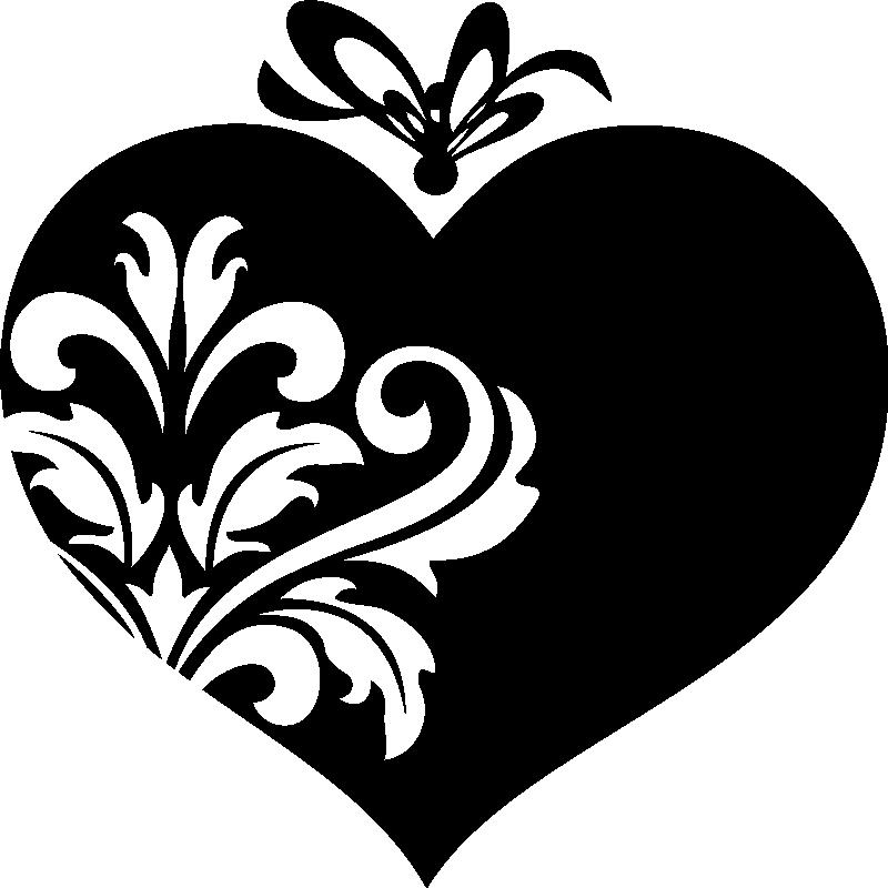 Muurstickers slaapkamer muursticker vlinder en hart ambiance - Deco kamer stijl engels ...