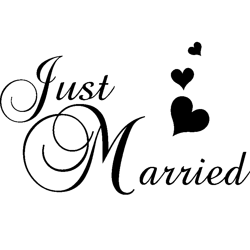 stickers muraux pour chambre sticker mural design just married ambiance sticker