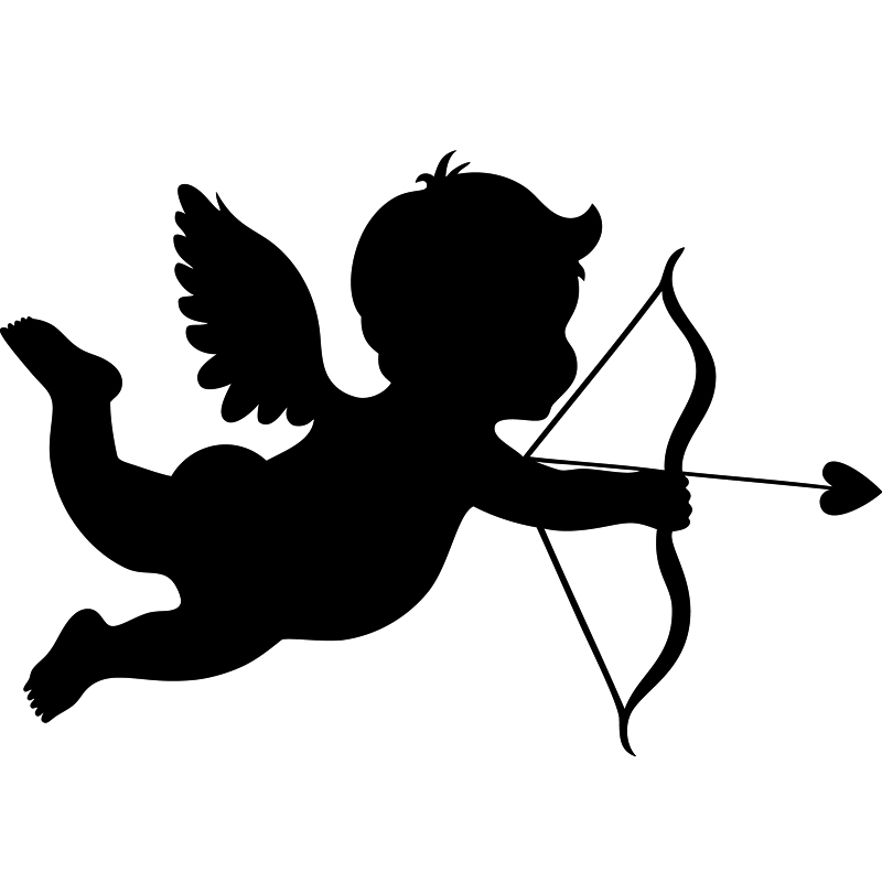 Stickers muraux pour chambre sticker mural silhouette cupidon ambiance - Image de cupidon gratuite ...
