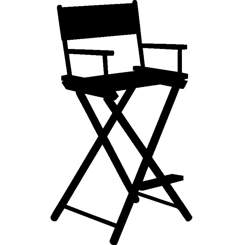 stickers muraux cin ma sticker chaise de r alisateur. Black Bedroom Furniture Sets. Home Design Ideas