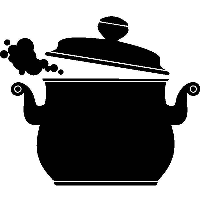 Sticker design marmite stickers muraux pour la cuisine ambiance - Dessin marmite ...