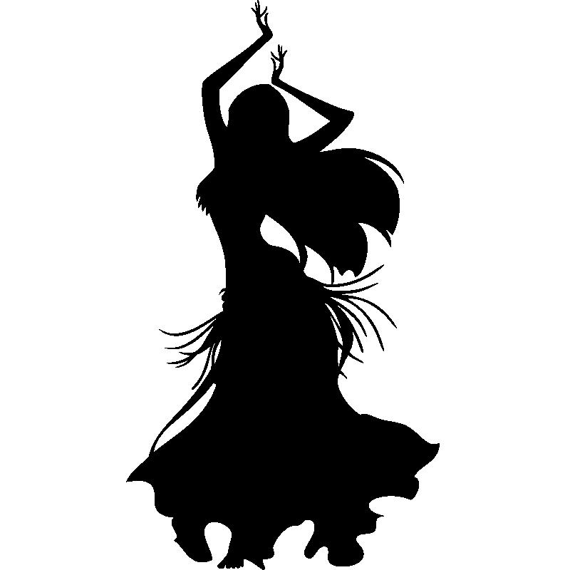 Salle De Bain Orientale Design : de silhouettes et personnages – Sticker Silhouette danseuse orientale …