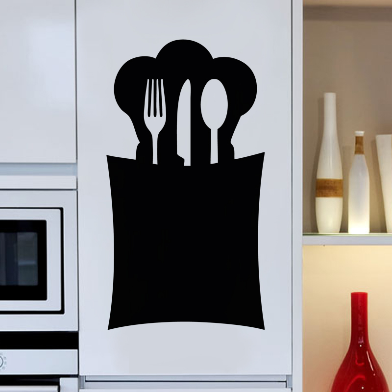 sticker ardoise design range cuill re stickers cuisine ambiance sticker. Black Bedroom Furniture Sets. Home Design Ideas