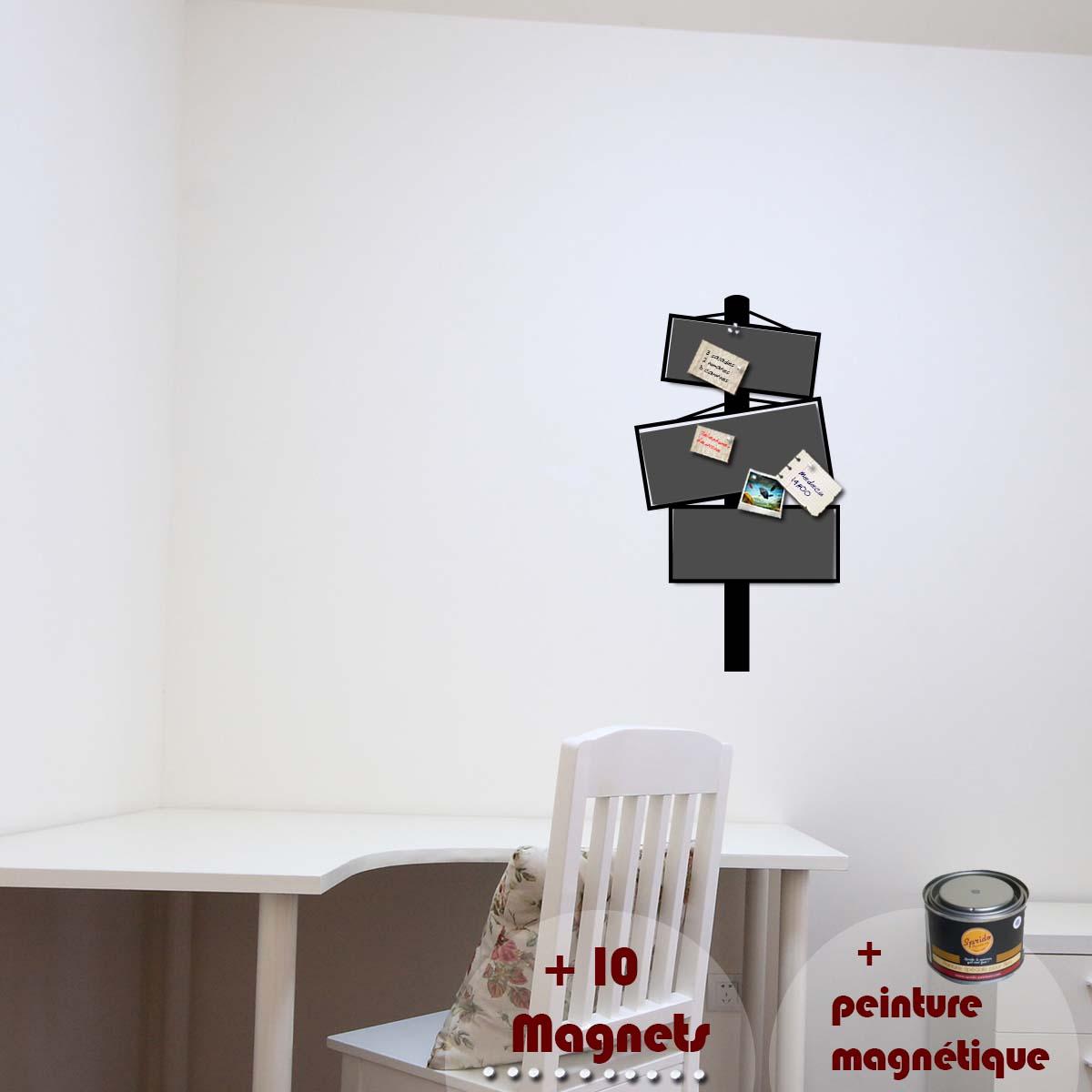 papier peint magn tique peinture magn tique avec sticker panneau ambiance. Black Bedroom Furniture Sets. Home Design Ideas